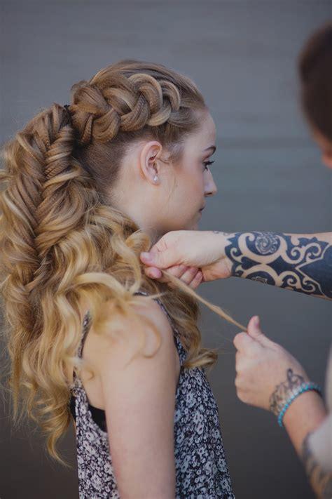 how to braid viking hair how to create a voluminous viking braid