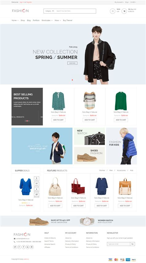 the fashion ecommerce shop html template by levantech