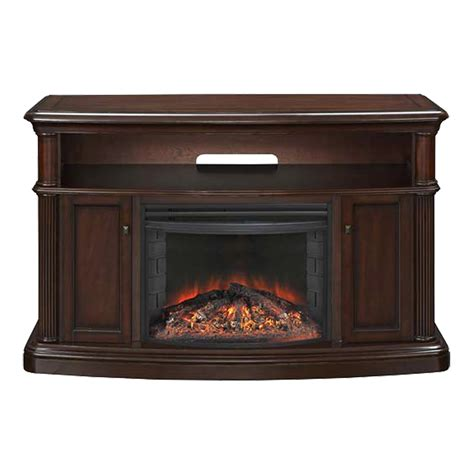 electric fireplace tv stand lowes muskoka mtvsc2595sch linton cherry electric fireplace