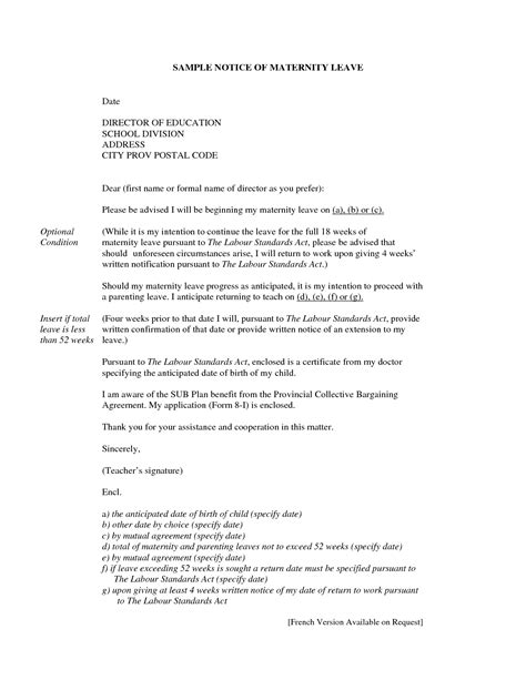 resignation letter after maternity leave resignation letter after maternity leave sle how to