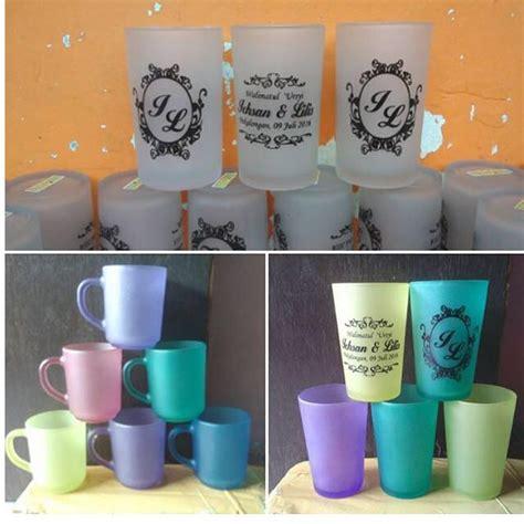 souvenir mug murah gelas sablon rp 8000 souvenir mug murah souvenir gelas pernikahan sablon gelas bening gelas