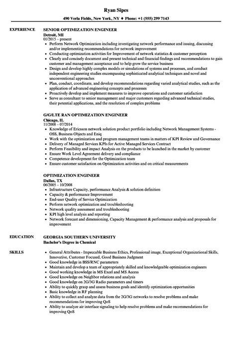 optimization engineer resume sles velvet