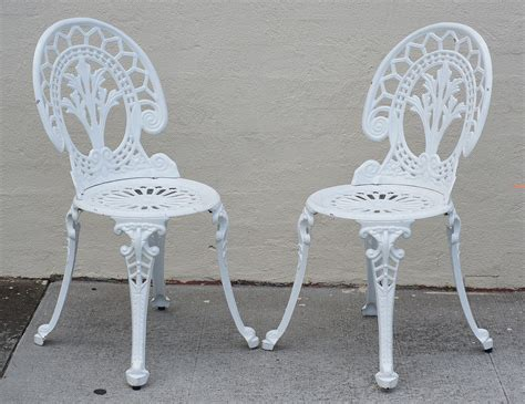 Cast Iron Bistro Chairs Outdoor Cast Iron Aluminium Bistro Table Chair Setting Ebay