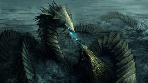 imagenes epicas de skyrim water dragon wallpapers wallpaper cave