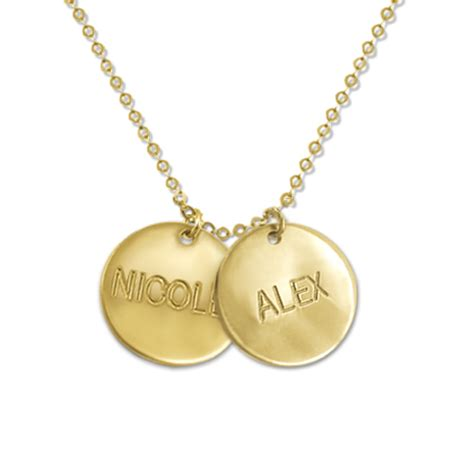 personalized gold jewelry 14k gold personalized disc mothers necklace mynamenecklace