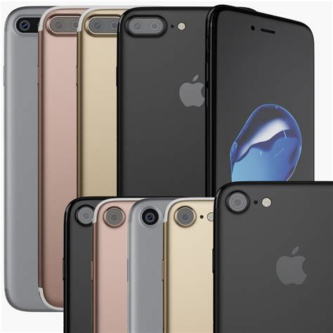 7 iphone colors 3d apple iphone 7 colors