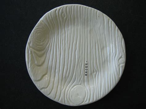 Wood Plate Wp 022 3 wood plate dunn clay handmade pottery