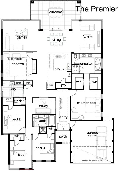 one story house plan 5 bedroom single story house plans bedroom at real estate