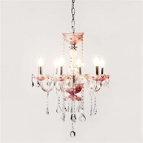 Light Pink Chandelier 6 Light Pink Chandelier Traditional Chandeliers By Thefrenchfurniturecompany Co Uk