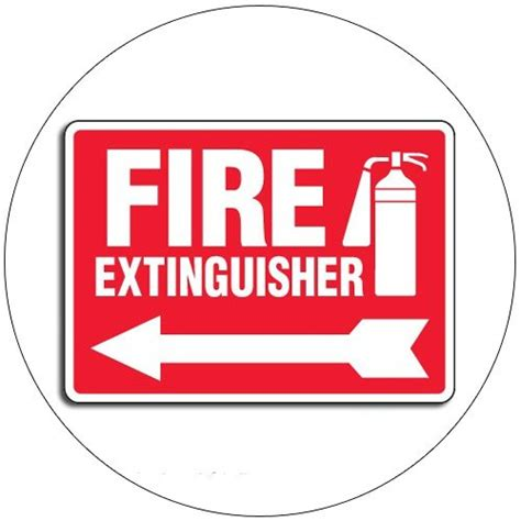 Sign Label Extinguisher extinguisher self adhesive label sign 7 quot h x 10 quot w emedco no 43396gghtedvad