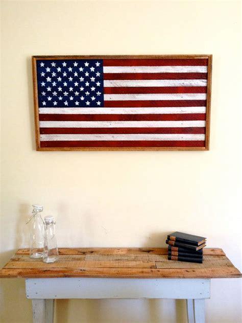 Handmade American Flag - painted wood american flag