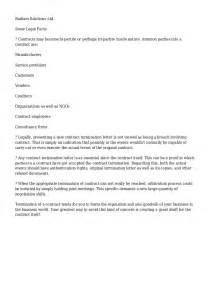 Sle Letter For Termination Of Contract by Contract Termination Letter Free Printable Documents