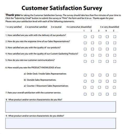 employee satisfaction survey template word employee satisfaction survey 8 free documents