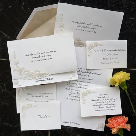 Thermography Wedding Invitations by Themed Wedding Invitation Set Formal Thermography