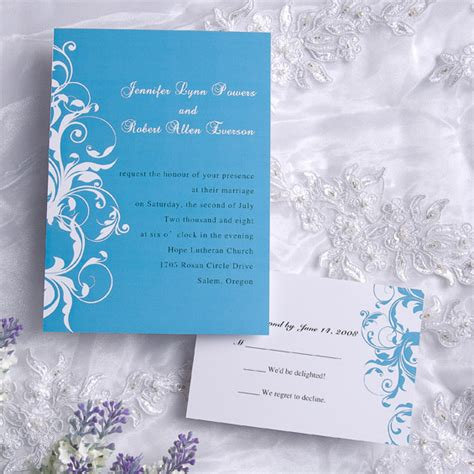 blue wedding invitations wedding color trends blue wedding ideas and