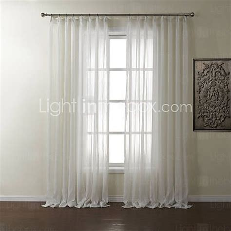 double rod pocket sheer curtains rod pocket grommet top tab top double pleat two panels