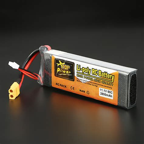 Lipo Zop Power 11 1v 60c 2200mah zop power 11 1v 2800mah 3s 60c lipo battery xt60 sale