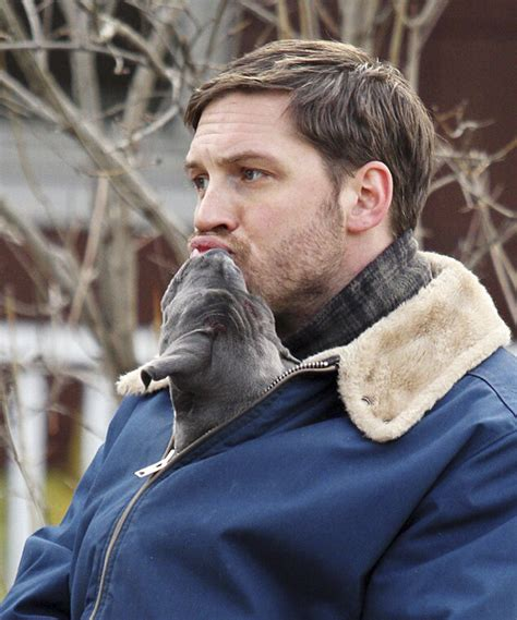heartwarming photos of tom hardy with puppies are going