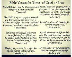 Bible Verses To Comfort After by Bible Verses For Times Of Grief Or Loss What Really