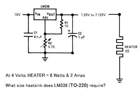 lm338 resistor wattage help with lm338 voltage regulator electronics forums