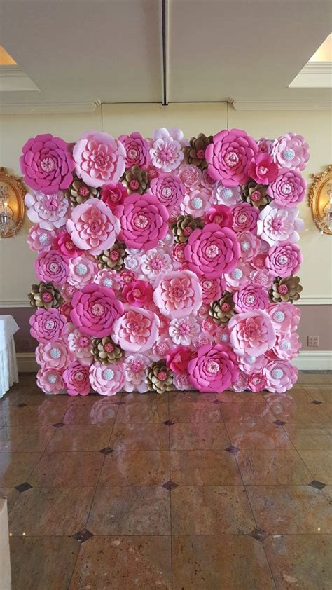 How To Make Paper Flower Backdrop - 25 best ideas about large paper flowers on