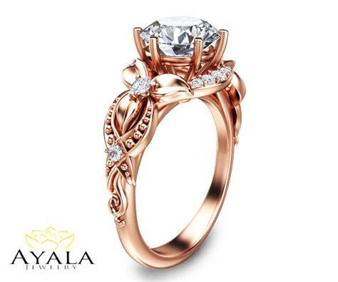 14k gold ring unique engagement ring lab