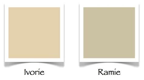 sherwin williams ramie sw ivorie and ramie paint colors