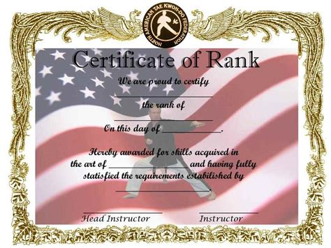 custom martial arts certificates template updatecom