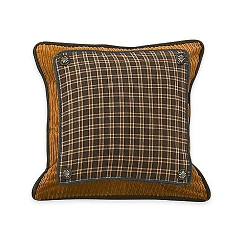 bed bath and beyond ocala hiend accents ocala plaid corduroy denim square throw