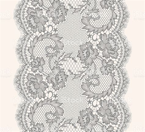 grey lace pattern gray lace ribbon vertical seamless pattern stock vector