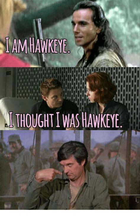 Know Your Meme Com - amhawkeye thoughti was hawkeye meme on sizzle