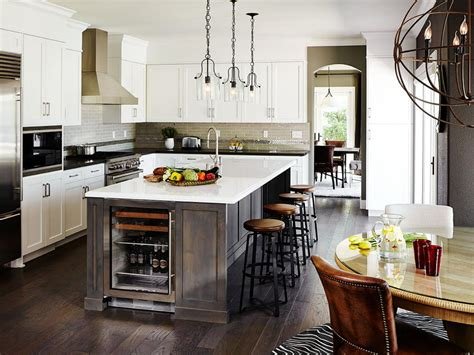 kitchen black and white kitchen island table industrial style photo page hgtv