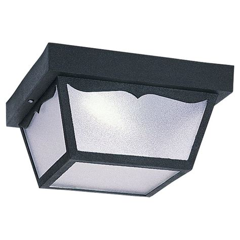 Outdoor Lighting Ceiling Mount Sea Gull Lighting Hanging Ceiling Mount 2 Light Outdoor Black Fixture 79121ble 12 The Home Depot
