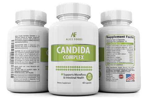 Candida Yeast Overgrowth Detox by Candida Complex 30 Day Supply Foods