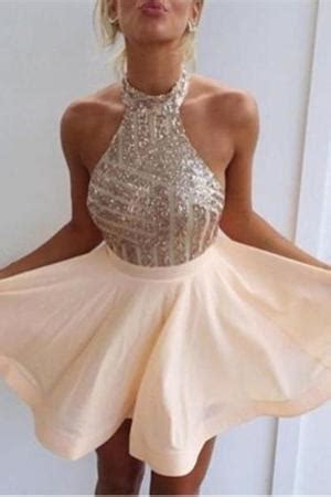 Cutie Sabrina Lace halter homecoming dresses affordable homecoming dresses