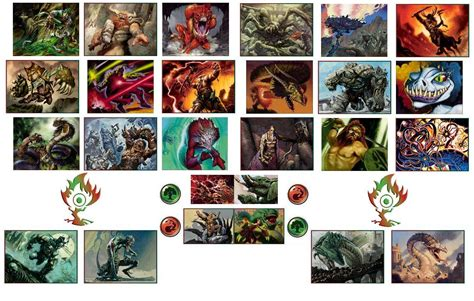 mtg color combinations magic the gathering gruul by ewing4686 on deviantart