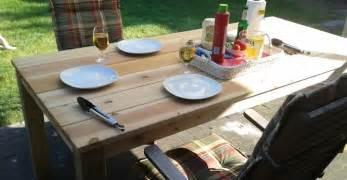 terrasse tisch selber bauen gartentisch selbst bauen anleitung das gartenmagazin