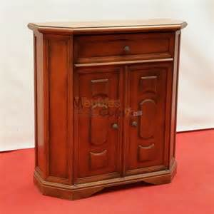 meuble d appoint merisier 2 portes 1 tiroir meubapp188