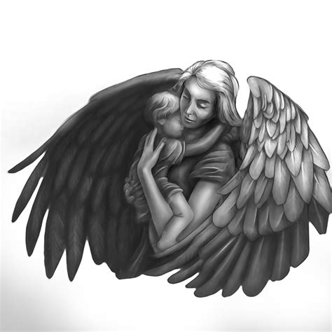 tattoo angel holding baby image result for angel drawing mother a r t pinterest