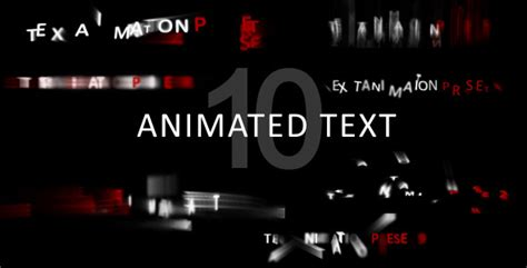 animated text separate letters animation titles