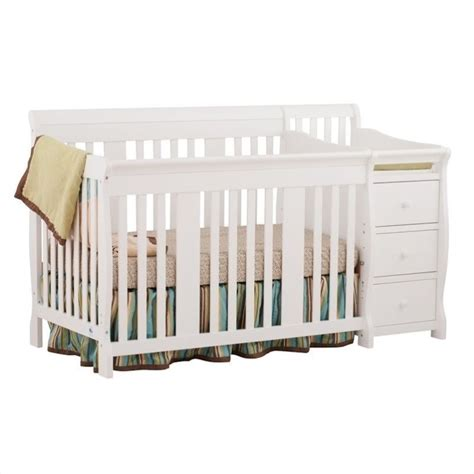 Baby Crib And Changer Combo 4 In1 Crib Changer Combo In White 04586 471