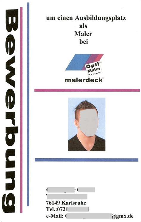 Bewerbungsschreiben Lehrling Lehrlinge Archives Seite 6 6 Malerdeck Ihr Opti Maler Partner 174 Aus Karlsruhe