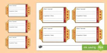 classroom exit ticket template exit ticket writing template classroom management and