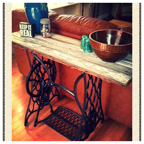 cast iron sofa table cast iron sewing machine base made in to a sofa table