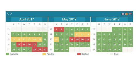 Availability Calendar Brolmo Availability Calendar