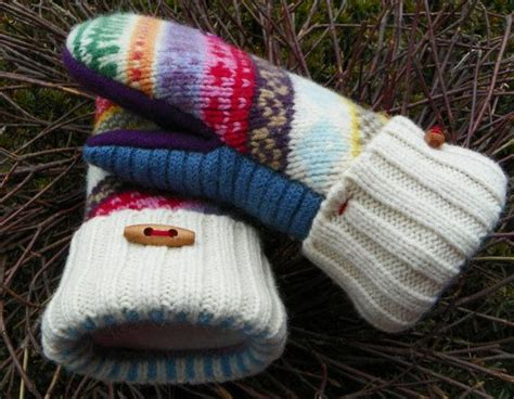 pattern felted wool mittens from sweaters pdf mitten pattern sewing diy pattern tutorial for