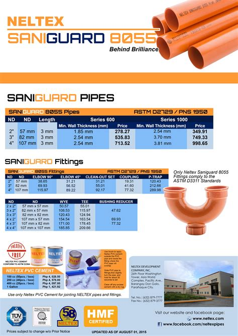 Plumbing Pipe Prices by Pipe Fittings Price List Re Re