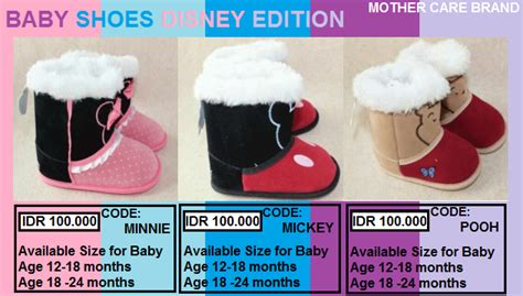 Sepatu Bayi Prewalker Disney Mickey Mini welcome to moyudo shop jual sepatu bayi baby shoes disney edition mickey minnie pooh only