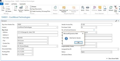sharepoint purchase order workflow send email with attachment to the vendor as a response in