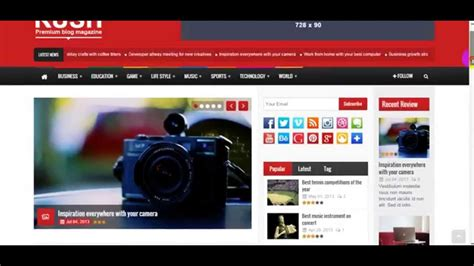 newspaper theme youtube rush theme wordpress free download for news rush theme